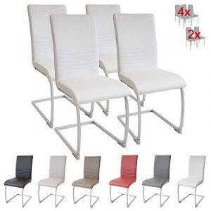 Albatros chaise cantilever MURANO Lot de 4 chaises, blanc, testé par SGS de la marque image 0 produit