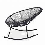 Alice's Garden - 2 fauteuils à bascule design Oeuf - Acapulco rocking Gris - Fauteuils design, rocking chair, cordage PVC par lot de 2 de la marque image 2 produit