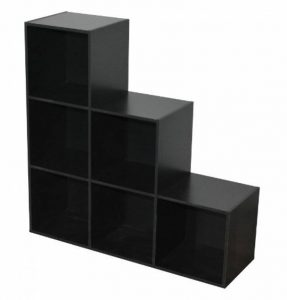 Alsapan - 471369 - Compo - Etagère de 6 Casiers - Noir - 95 x 31.4 x 8.5 cm de la marque Alsapan image 0 produit