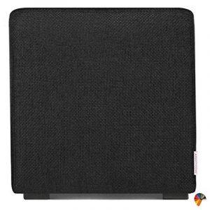 Arketicom Pouf Cube Noir En Polyurethane Haute Densite` Dimensions 55 x 55 x 45h cm (puf puff pouff pouffe) de la marque image 0 produit