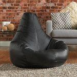 Bean Bag Bazaar® Pouf Poire designer inclinable de jeux NOIR Faux Cuir- Chaise Pouf Poire Extra Large de la marque image 5 produit
