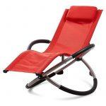 Blumfeldt Chilly Willy - Chaise longue pour enfant, transat fauteuil avec accoudoirs et effet bascule (construction acier stable, coussin repose-tête inclus, revêtement lavable) - rouge de la marque image 5 produit