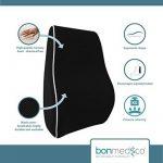 bonmedico® Coussin orthopédique appui support dorsal soutien lombaire maux de dos, maternité, grossesse, format voyage, pour voiture, maison, bureau de la marque Bonmedico image 1 produit