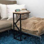 BonVIVO® Table d'appoint GIORGIO– Aspect bois moderne avec châssis en acier noir de la marque bonVIVO image 1 produit