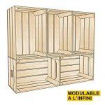 Caisse en bois STANDARD (L.54 x l.36 x h.30) Fabriquée main en France de la marque Simply a Box image 5 produit