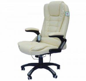 Chaise de bureau pivotante fauteuil direction de massage electrique massant relaxation creme 57 de la marque image 0 produit