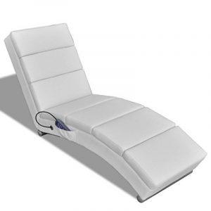 Chaise Massage Electrique Fonctionnelle Blanc de la marque vidaXL image 0 produit