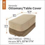 Classic Accessories Veranda 71992 HOUSSE POUR OTTOMAN/TABLE – RECTANGULAIRE, PETITE de la marque image 1 produit