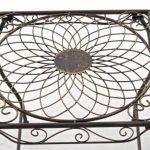 CLP Gracieuse Table de jardin en fer forgé ZARINA, Table de bistrot au style nostalgique, dimensions: 49 x 45, bronze de la marque image 2 produit