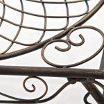 CLP Gracieuse Table de jardin en fer forgé ZARINA, Table de bistrot au style nostalgique, dimensions: 49 x 45, bronze de la marque image 3 produit