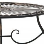 CLP Table de jardin ronde en fer forgé INDRA, Table en fer forgé faite à la main style antique, diamètre Ø 70 cm bronze de la marque image 3 produit