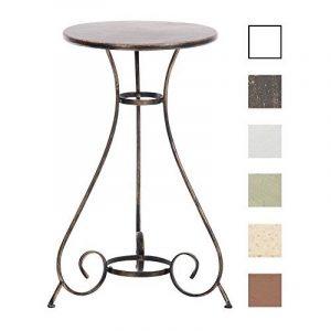 CLP Table ronde de jardin faite à la main en fer forgé ALAN, diamètre Ø 40 cm, au style nostalgique bronze de la marque image 0 produit