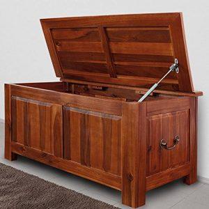 Coffre de rangement style colonial bois exotique 85 cm de la marque Deuba image 0 produit