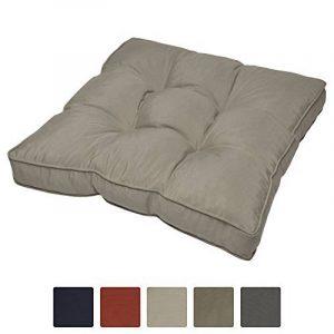 Coussin lounge - Pour Assise - Pour extérieur - Imperméable - Gris - 70x70x10 cm - Idéal pour jardin, balcon de la marque image 0 produit