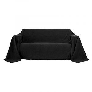Deconovo Housse de Canapé Clic Clac Suede Protéger Votre Canapé Decoration Maison 210x280cm Noir de la marque image 0 produit