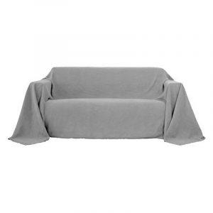 Deconovo Housse de Canape Protection pour Canapé Clic Clac Suede Decoration Maison 210x280cm Gris Clair de la marque image 0 produit