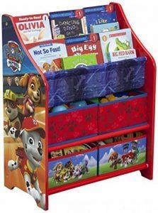 Delta Children TB83344PW Meuble de rangement Jouets/Livres Motif Pat'Patrouille Bois Rouge 50,49 x 26,49 x 67,99 cm de la marque image 0 produit