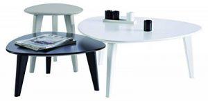 Demeyere 107118 Set de 3 Tables Basses Blanc/Gris/Noir de la marque image 0 produit