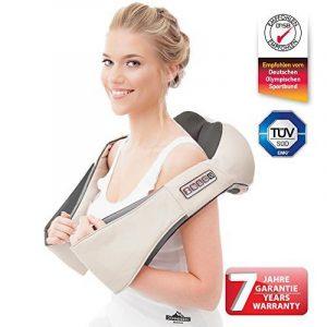 Donnerberg® Original appareil de massage shiatsu - Marque déposée allemande - Garantie 7 ans - Chaleur à infrarouge et vibration - Certificat TÜV - Pour domicile, voiture, bureau de la marque image 0 produit
