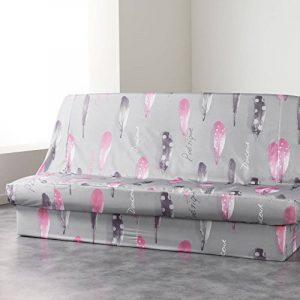 Douceur d'Intérieur Housse de Clic Clac Imprimé Poétique Polyester Gris 195 x 70 x 65 cm de la marque image 0 produit