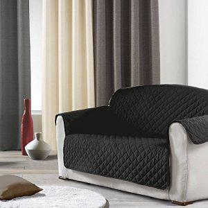 Douceur d'Intérieur Protège Canapé Matelasse Microfibre Unie Club Polyester Noir 279 x 179 cm de la marque Douceur d'Intérieur image 0 produit