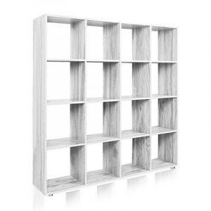 Étagère 16 cases Couleur béton Etagère escalier Diviseur de pièce Bibliothèque Meuble Rangement de la marque WilTec image 0 produit