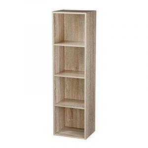 Étagère en bois à 1, 2, 3, 4étages, bibliothèque, vitrine, unité de rangement, Antique Oak, 4 Tier de la marque image 0 produit