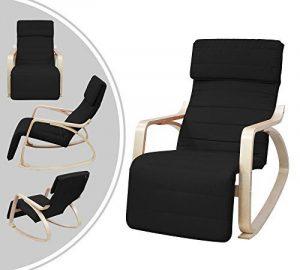 Fauteuil à bascule type rocking chair - Noir de la marque Leogreen image 0 produit