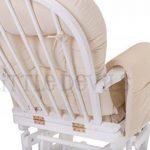 Fauteuil Bascule Bois Rocking Chair Beige Allaitement Bébé Avec Mécanisme Verrou & Repose Pied Assorti Planeur chaise de la marque image 6 produit