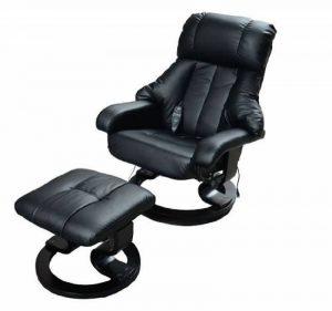 Fauteuil de massage relaxation chauffage electrique repose-pied noir 71 de la marque image 0 produit