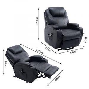 Fauteuil luxe de relaxation électrique sur roulettes noir 20BK de la marque image 0 produit