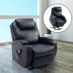 Fauteuil luxe de relaxation électrique sur roulettes noir 20BK de la marque image 1 produit