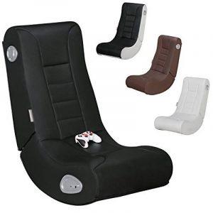 FineBuy GameOne - Fauteuil multimédia fait de faux cuir | Chaise de jeu avec haut-parleurs et caisson de basses | Chaise de musique avec son système de la marque FineBuy image 0 produit