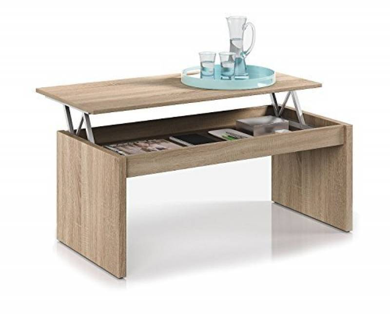 good habitdesign f table basse chne naturel avec plateau relevable de la marque with table basse. Black Bedroom Furniture Sets. Home Design Ideas