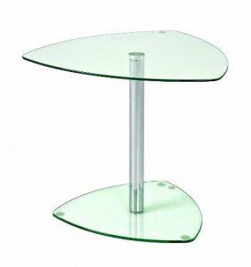 Haku Möbel 86215 Table Basse d'Appoint Tube d'Acier/Verre Trempé Chromé de la marque image 0 produit