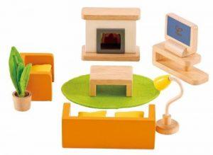 Hape - E3452 - Jeu d'Imitation en Bois - Maison de Poupées - Pièce Multimédia de la marque image 0 produit