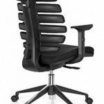 hjh OFFICE 714500 chaise de bureau, fauteuil bureau ERGO LINE II noir avec accoudoirs pour un usage intensif, support lombaire intégré au dossier ergonomique en forme de colonne vertébrale, profondeur de l'assise réglable de la marque image 5 produit