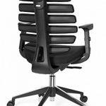 hjh OFFICE 714500 chaise de bureau, fauteuil bureau ERGO LINE II noir avec accoudoirs pour un usage intensif, support lombaire intégré au dossier ergonomique en forme de colonne vertébrale, profondeur de l'assise réglable de la marque image 6 produit