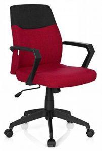 hjh OFFICE 723011 chaise de bureau, siège pivotant ROYAL gris/rouge moucheté, avec accoudoirs, dossier moyen au design bicolore, design moderne, assise réglable en hauteur, mécanisme de basculement de la marque image 0 produit
