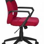 hjh OFFICE 723011 chaise de bureau, siège pivotant ROYAL gris/rouge moucheté, avec accoudoirs, dossier moyen au design bicolore, design moderne, assise réglable en hauteur, mécanisme de basculement de la marque image 2 produit