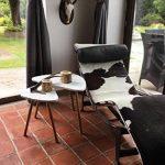 HOMFA Lot de 2 Table Basse de Café à Trois Pieds en Bambou et MDF Tables Basses Gigognes Blanc (Type-2) de la marque image 4 produit
