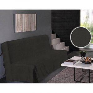 Housse clic clac à nouettes unie 140 x 200 cm (Noir) de la marque image 0 produit