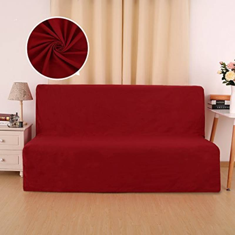 interesting deconovo housse de protection coton pour clic clac avec dos xxcm rouge de la marque. Black Bedroom Furniture Sets. Home Design Ideas