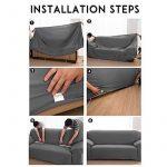 Housse de canapé 3places Slipcover stretch Tissu élastique protection pour canapé Slip Cover Chocolat de la marque MONY image 1 produit