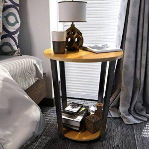 Lifewit Lifewit Table Basse Ronde Guéridon Bout de Canapé Table de Nuit Table Elégante - Bois de la marque Lifewit image 0 produit