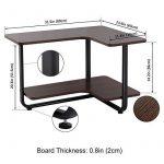 Lifewit Table d'appoint en Forme L à Deux Niveaux Grande Capacité Bout de Canapé de la marque Lifewit image 3 produit