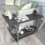 Lifewit Table d'appoint en Forme L à Deux Niveaux Grande Capacité Bout de Canapé de la marque Lifewit image 6 produit