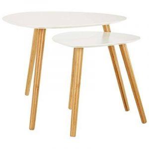 LOMOS® No.2 Set de tables basses blanc constitué de 2 tables en bois de la marque image 0 produit