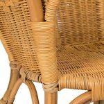 Lot de 2 fauteuils en rotin CHRIS miel - Rotin Design de la marque image 4 produit