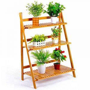 Malayas Etagère à Fleurs en Bois Porte-Fleurs 3 Niveaux pour Plantes Echelle Plantes Intérieure Jardin Balcon de la marque image 0 produit